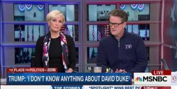 Scarborough Calls Trump's Refusal To Condemn David Duke/KKK Disqualifying