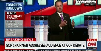 Reince Preibus Shows Up To Give The Audience A Pep Talk
