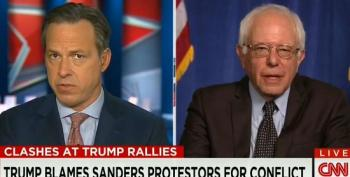 Sanders: Trump Absolutely Lying To Say My Campaign's Egging On Protests