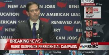 Marco Rubio Suspends His Campaign After Florida Blowout