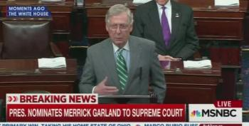 Mitch McConnell Cites Phony 'Biden Rule' To Deny Merrick Garland's Nomination