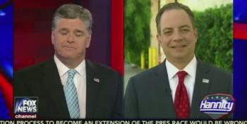 Sean Hannity Grills Reince Priebus Over John Kasich Staying In Race