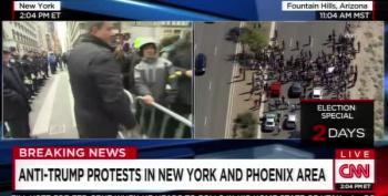 Jeffrey Lord Calls Peaceful Protesters 'The Violent Left'