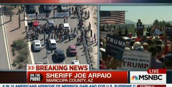 Joe Arpaio Doesn't See Anything Wrong With Trump's Calls For Violence