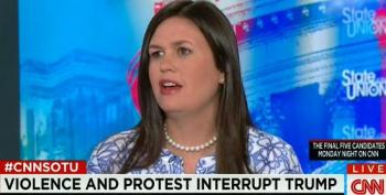 Huckabee Sanders Defends Trump's Violent Rhetoric By Attacking Obama For Using 'Guns To Their Heads' Analogy