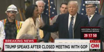 Trump Stops Presser To Give Job Interview