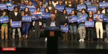 Jane Sanders Interrupts Bernie's Speech:  'We Won Wyoming'