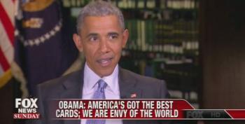 President Obama Praises America, Will Conservative Heads Explode?
