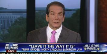Krauthammer:  No Epidemic Of Transgenders Being Evil In Bathrooms