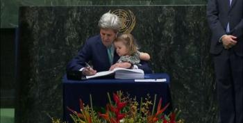 John Kerry Signs The Paris Agreement On Climate Change