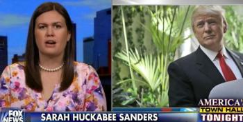 Sarah Huckabee Sanders Brags About Trump's Upcoming Foreign Policy Speech