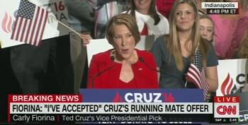 Carly Fiorina Breaks Out In A Song At Cruz VP Presser