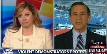 Fox's Bartiromo And Rep. Issa Blame Obama, Stimulus Spending, For Slow Economic Growth