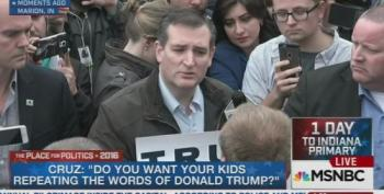 Ted Cruz Confronts Trump Supporter In Indiana