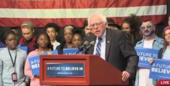 Sanders Supporter Gets A Laugh From Bernie When He Says 'Billionaires Can Fck Off'