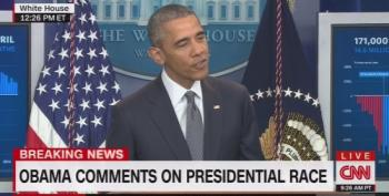 Obama Kicks Trump:  'This Is Not A Reality Show'