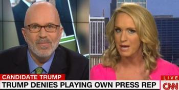 Trump Wingnut Surrogate Pretends She Doesn't Know He Admitted To Pretending To Be His Publicist