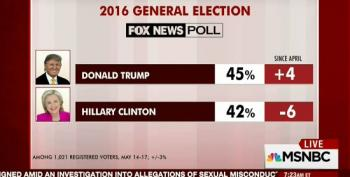 MSNBC Cites Fox Poll Showing Trump Ahead Of Clinton