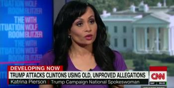 Katrina Pierson Defends Trump's Use Of Clinton Conspiracy Theories