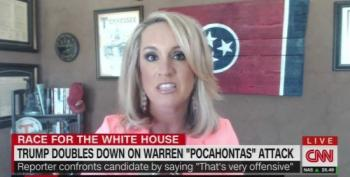 "Scottie Nell Hughes Goes Off The Rails Defending Trump's ""Pocahontas' Insults"
