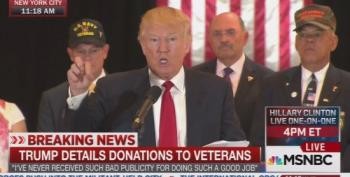 Excuses, Excuses! Trump Vets Charities More Closely Than He'll Let The Press Vet Him