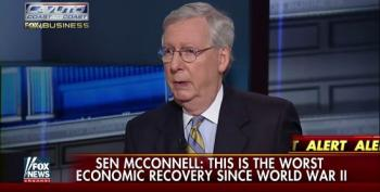 Mitch McConnell Carps About The Slow Economic Recovery He Helped To Create