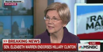 Sen. Elizabeth Warren Endorses Hillary Clinton For President On Rachel Maddow
