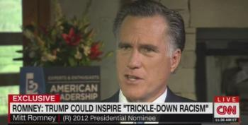 Mitt Romney Can't Support Donald Trump's 'Trickle-Down Racism'
