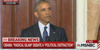 President Obama Burns Republicans For 'Radical Islam' Talking Point Nonsense