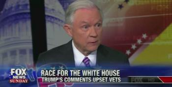 Sen. Jeff Sessions Can't Defend Trump's Bad Week. 'It's Been A Difficult Time'