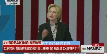 Hillary Clinton: He's Written A Lot Of Books On Business. They All Seem To End On Chapter 11