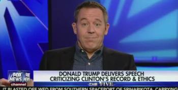 Fox News' Greg Gutfeld Has On-Air Orgasm Over Trump's Attack Speech On Hillary