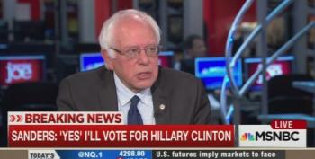 Breaking:  Sanders Says He Will Vote Clinton In November
