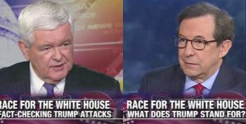 Fox News' Chris Wallace Fact-Checks Trump And Asks Gingrich: Why Doesn't He 'Stick To The Facts?'