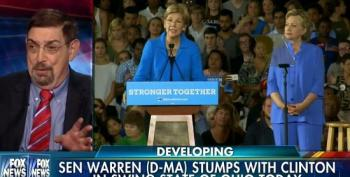 Fox Pundits Mock Clinton And Warren For Wearing Blue At The Same Time