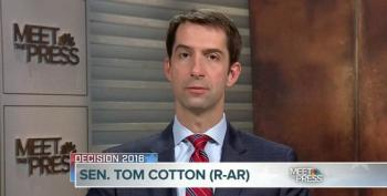 Sen. Tom Cotton Can't Make The Case For Donald Trump On MTP