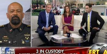 Fox's Wingnut Sheriff Clarke Attacks 'Cop-Hater In Chief' Obama Over Dallas Shootings