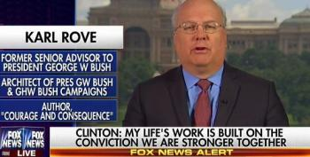 Karl Rove Whines That Clinton Was Being 'Partisan And Vicious' To Donald Trump During Springfield Speech