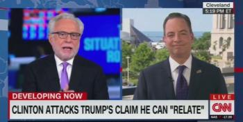 Wolf Blitzer Calls Out Priebus' Lies About Hillary And The FBI