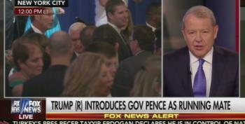 Stuart Varney Drools Over Trump's Narcissistic Mike Pence Introduction