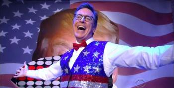 Stephen Colbert Celebrates The Opening Of The 2016 RNC: It's Christmas In July
