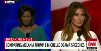 Michelle Obama 2008 Vs Melania Trump 2016