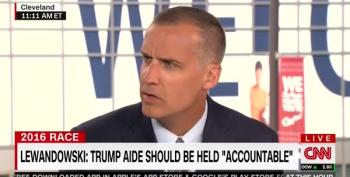Corey Lewandowski Thinks Paul Manafort Should Resign