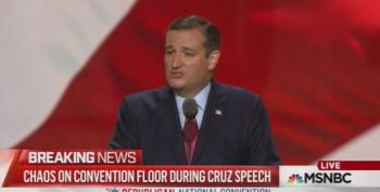 Sen. Ted Cruz Booed Off RNC Stage For Not Endorsing Trump