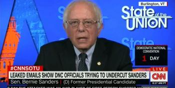 Bernie Sanders: 'Awful' DNC Emails Should Cost Party Chair Her Job