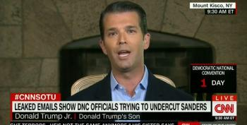 Donald Trump Jr. Attacks Clinton Co-Chair For Suggesting Russians Are Helping His Father