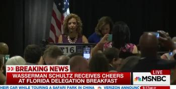 Debbie Wasserman Schultz Booed Off Stage By Florida Delegation