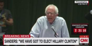 Bernie Sanders Greeted With Jeers For Endorsing Hillary