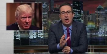 John Oliver Tears Into 'F*cking Asshole' Trump For His Khan Family Remarks