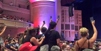 Protesters Hold Up Pocket Constitutions At Trump Rally, Jeered With Chants Of 'USA! USA!'